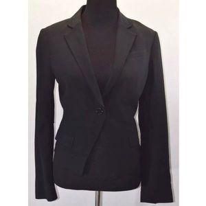 BCBGMaxAzria Black Single Button Wool Blazer Sz S